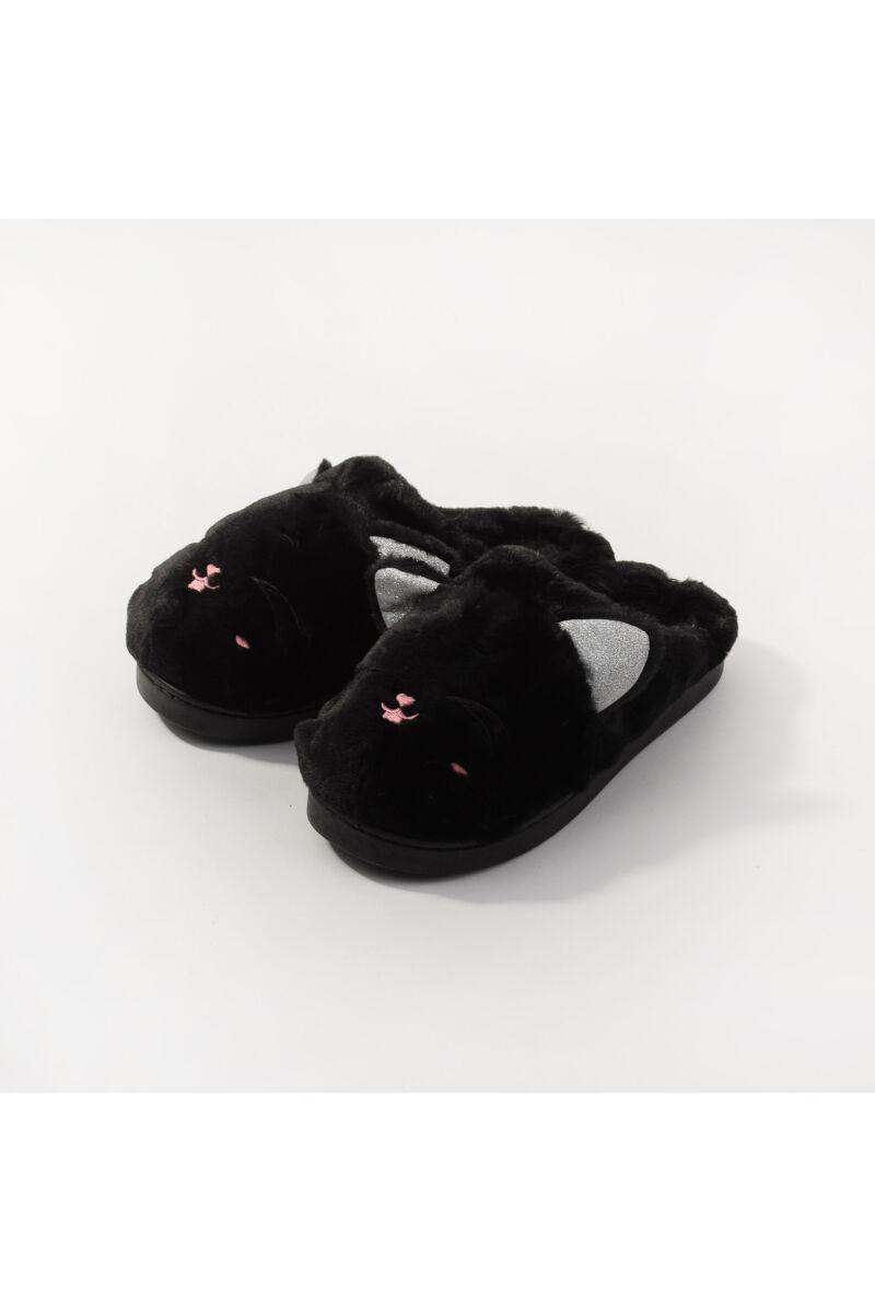 Fekete Flitteres Állatos Meleg Mamusz