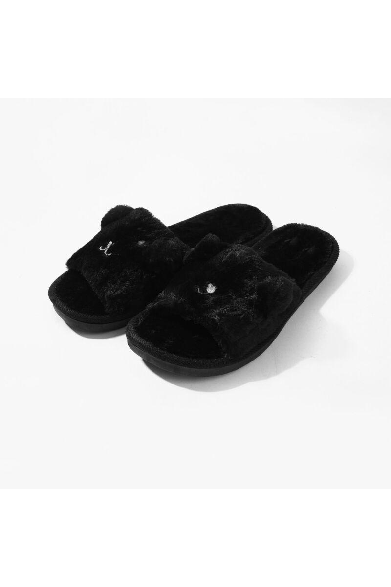 Fekete Állatos Bélelt Téli Mamusz