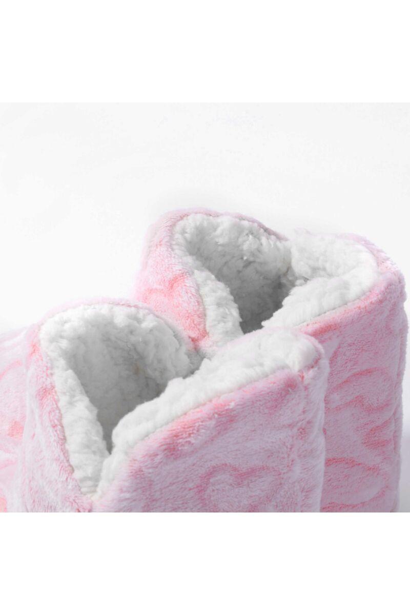 Rózsaszín Szivecskés Bélelt Téli Mamusz
