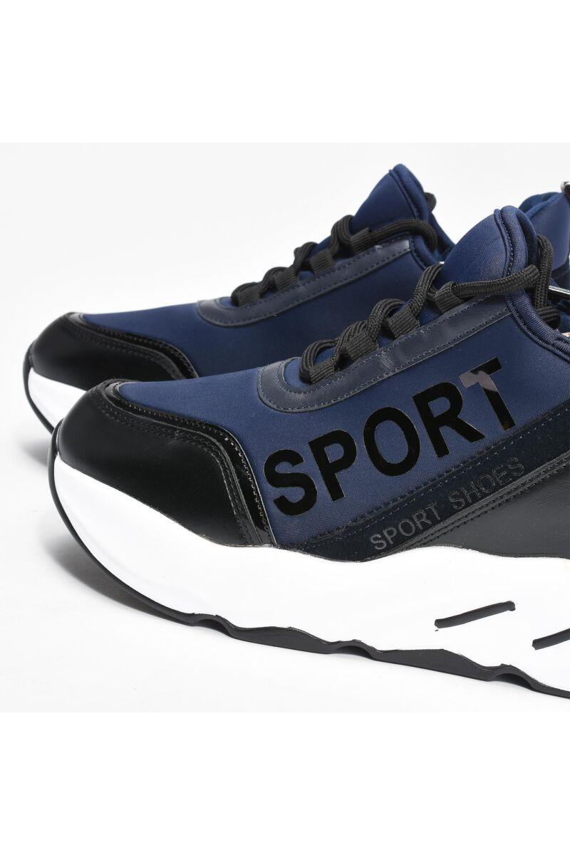 Női Kék Műbőr Sportcipő