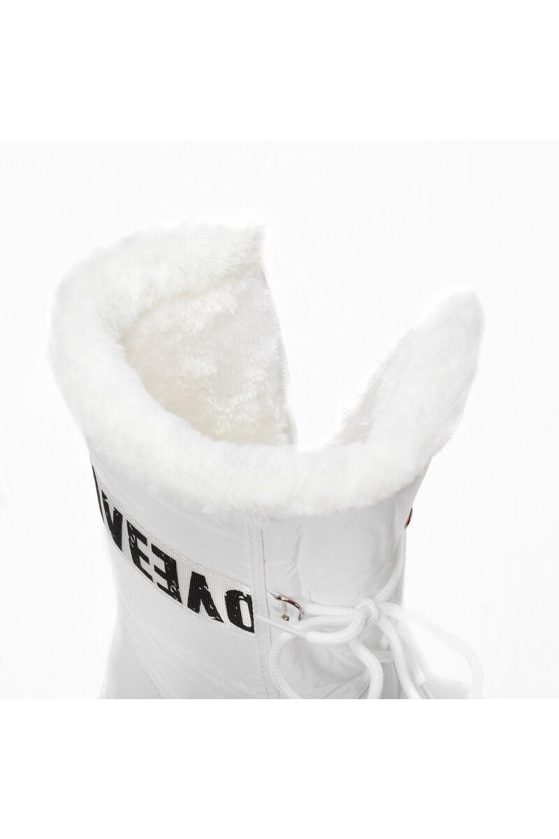 Eszkimós Bélelt Fehér PVC Női Hótaposó