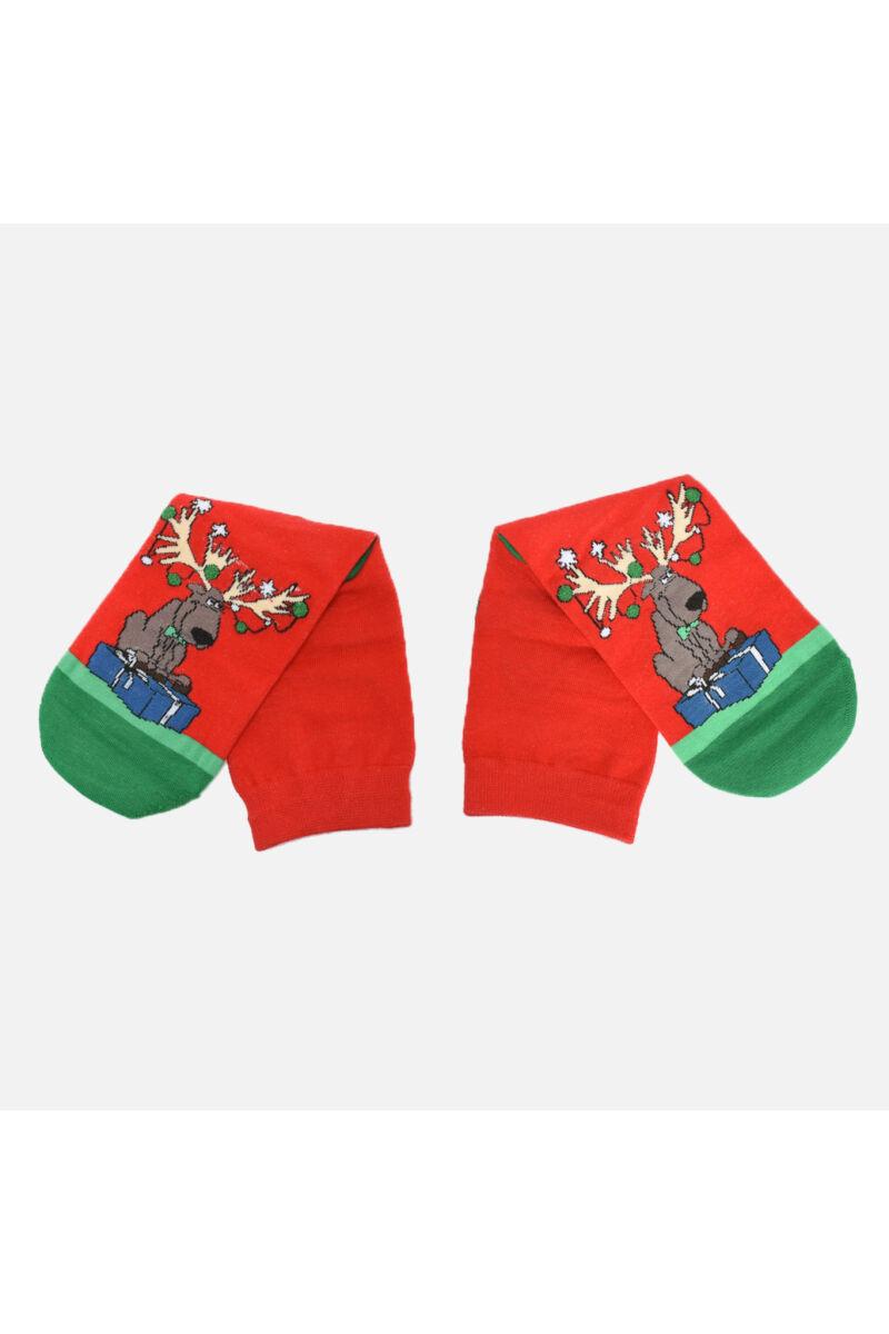 Piros Karácsonyos zokni