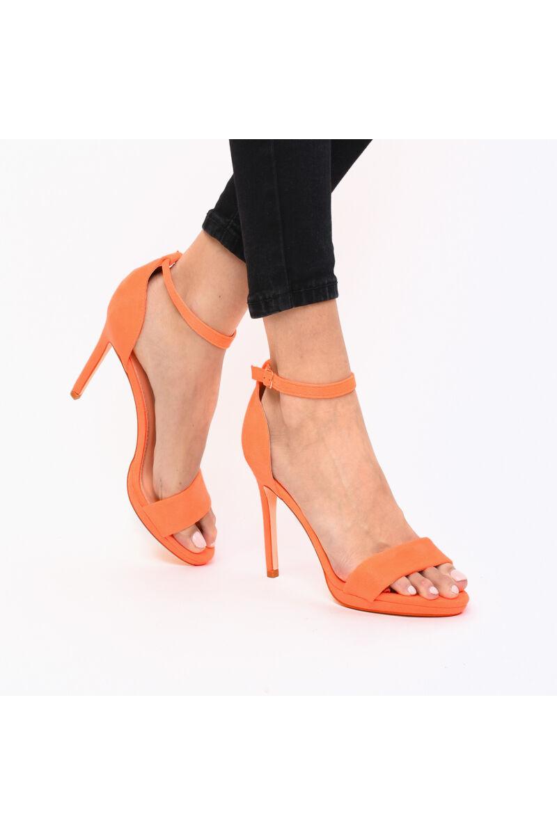 UV Narancssárga Művelúr Női Magassarkú Szandál