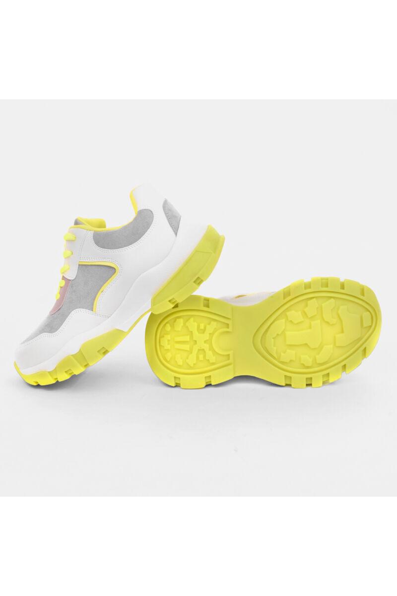 Fehér-bézs művelúr utca cipő