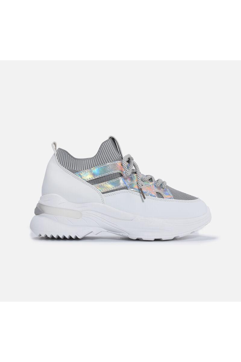 Zoknifazonú Ezüst Betétes Utcai cipő