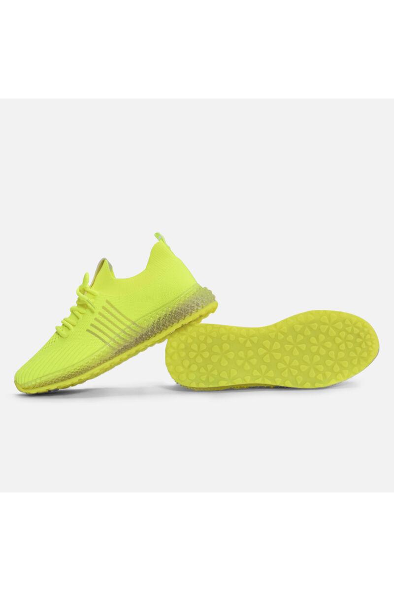 Neonzöld vászon jól szellőző  zoknicipő