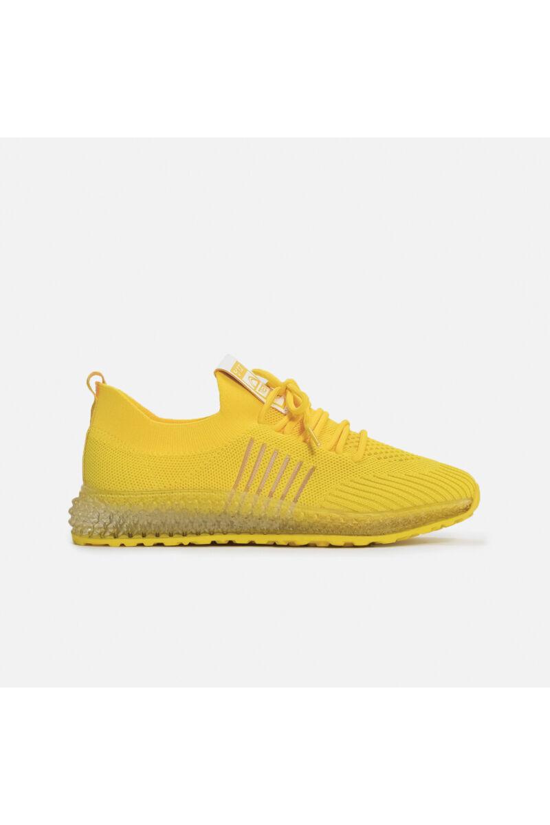 Sárga vászon jól szellőző  zoknicipő