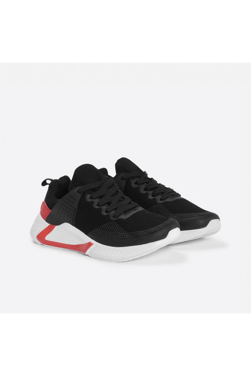 Fekete-Piros könnyű jól szellőző kényelmes férfi sportcipő