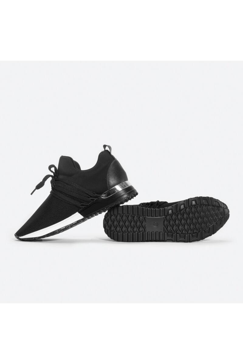 Fekete jól szellőző letisztult utca cipő