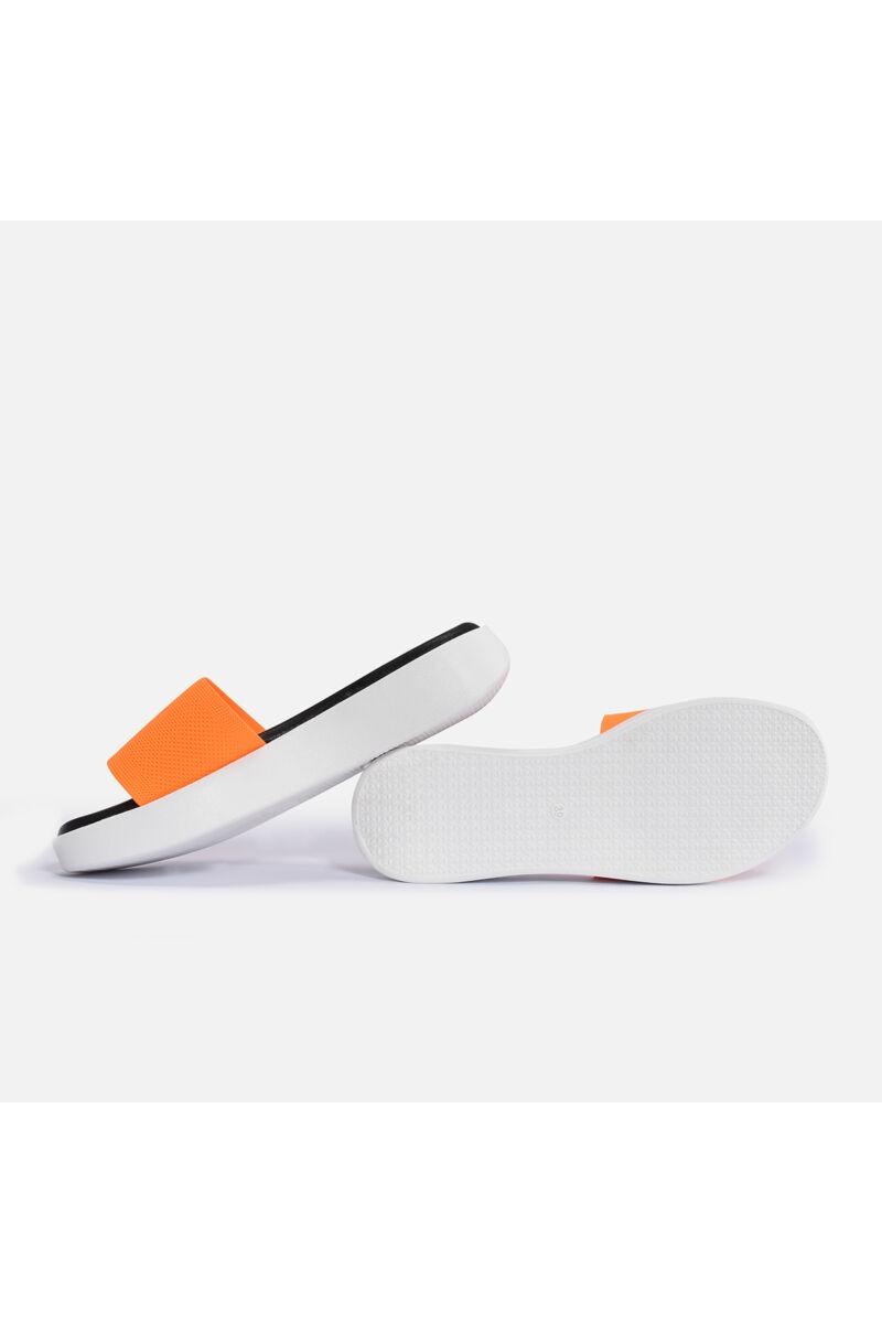 Narancssárga puha magastalpú papucs