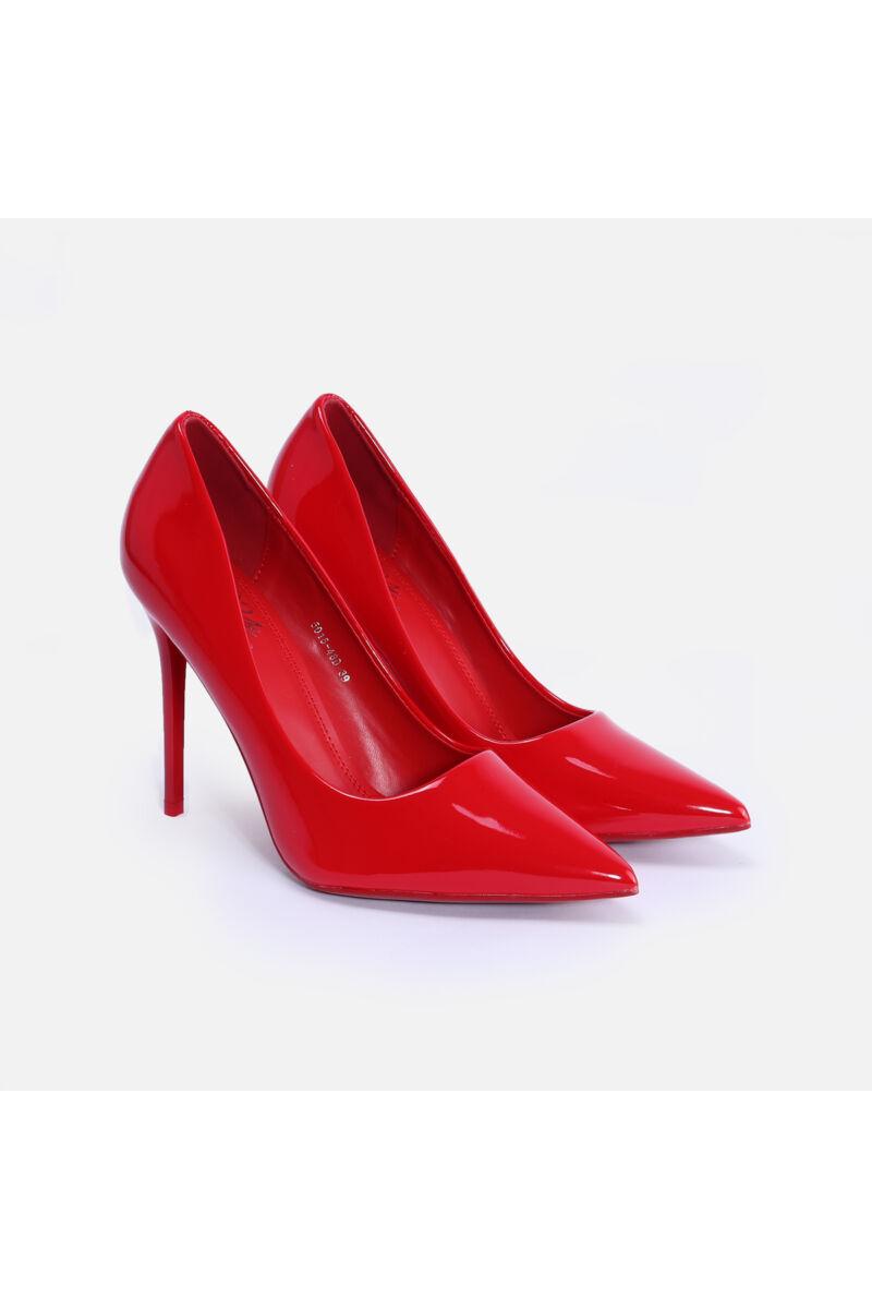 Piros Lakk Magassarkú Cipő