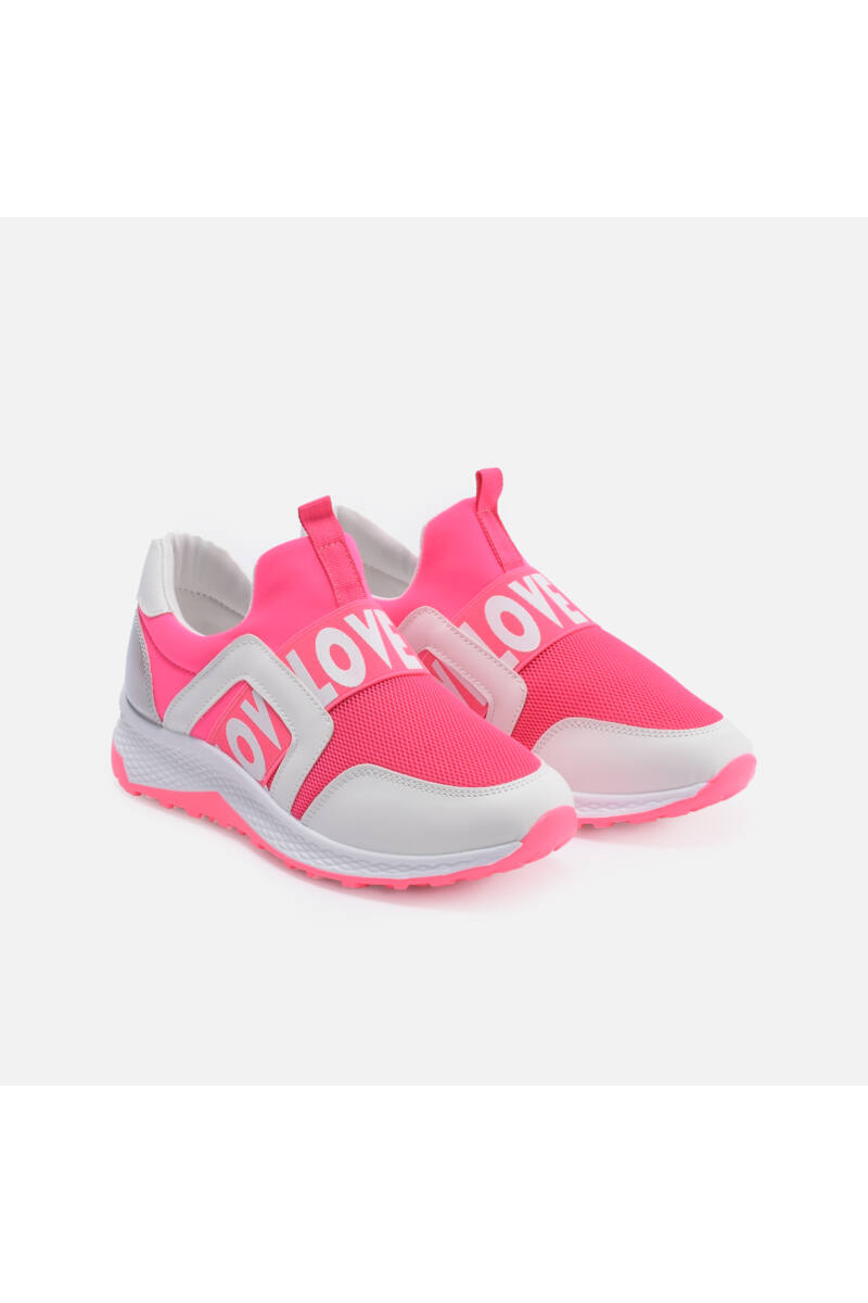 NeonPINK  gumipántos utcai cipő