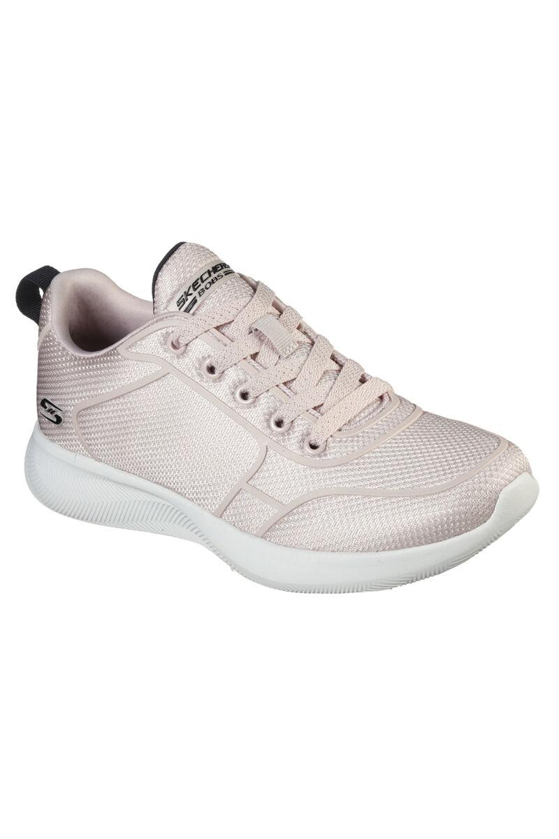 Skechers Bobs Púderrószaszín Női Sneaker