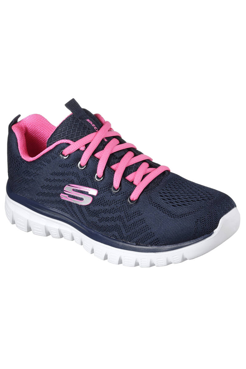 Skechers Kék Graceful Get Connected Női Futócipő
