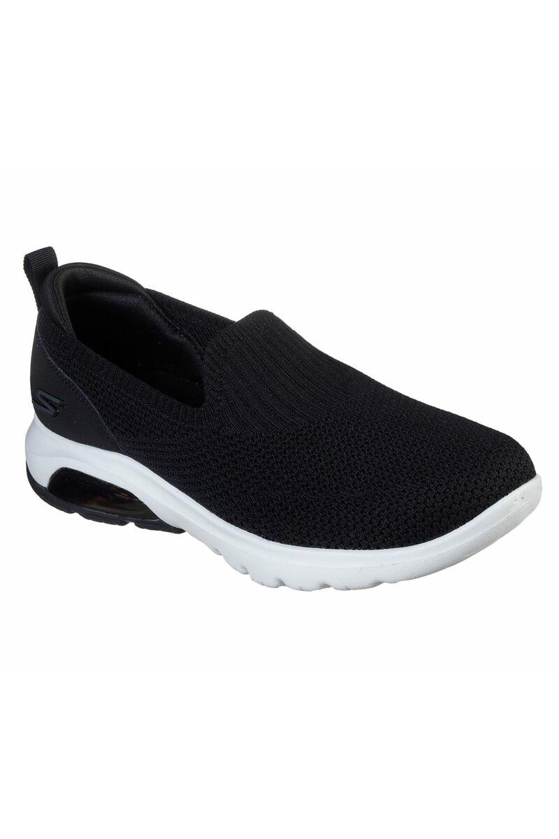 Skechers Női Belebújós Cipő-BLACK-BKW