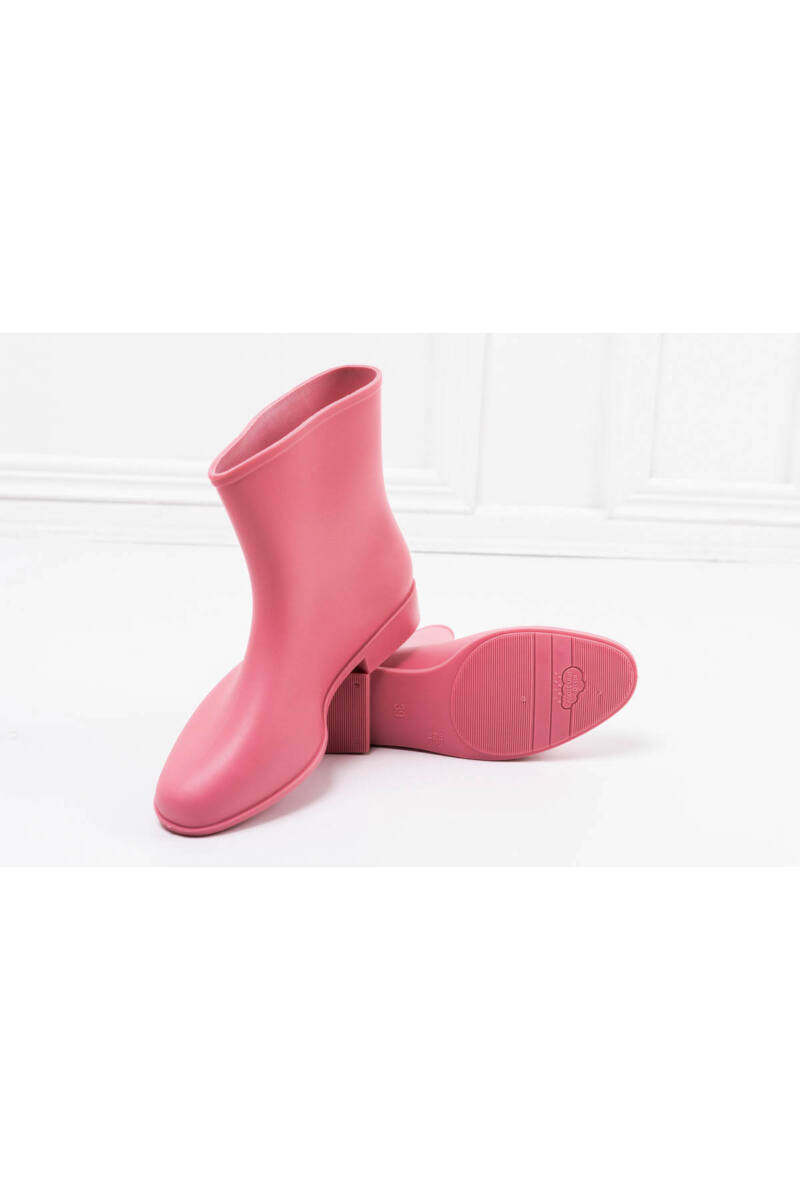Női Rózsaszín Csatos Boka Gumicsizma