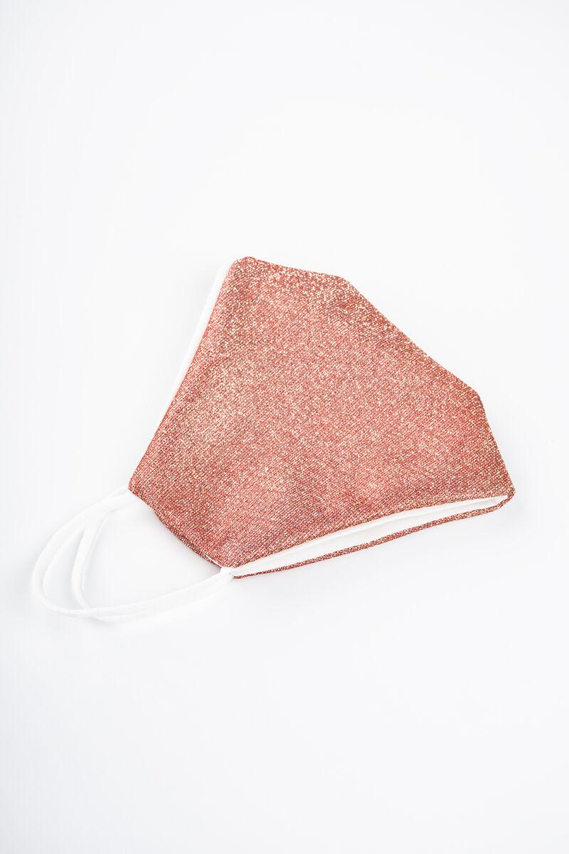 Rózsaszín Színű Csillogó 2 Rétegű Trendi Textil Szájmaszk
