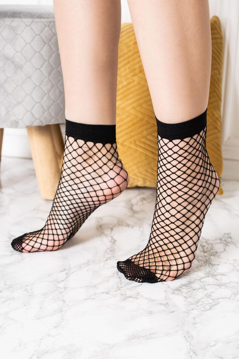 Fekete Női Necc Harisnya-zokni