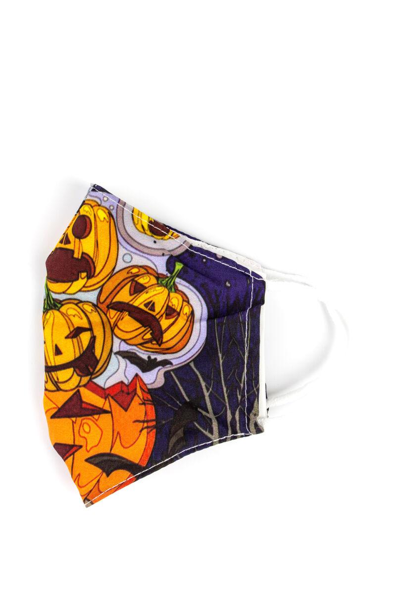 Halloween-i Tök Mintás 2 Rétegű Trendi Textil Szájmaszk