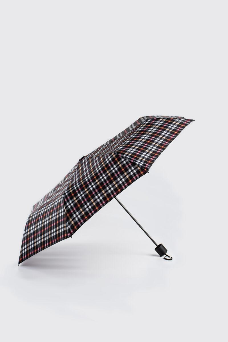 Kék/Piros Kockás Összecsukható Esernyő