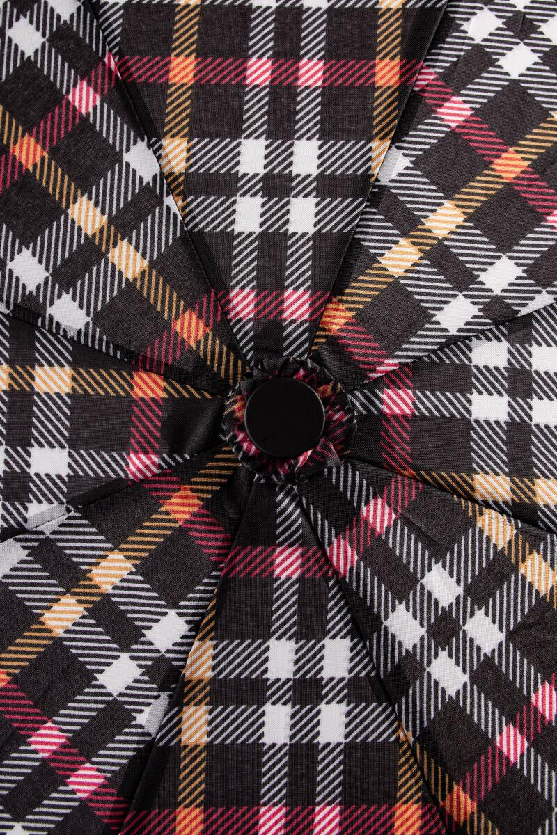 Fekete/Piros/Fehér Kockás Összecsukható Esernyő
