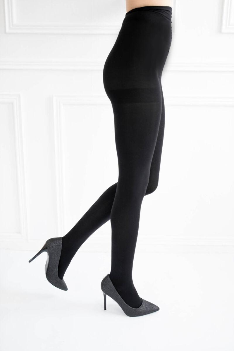 Fekete színű női elasztikus vastag harisnyanadrág