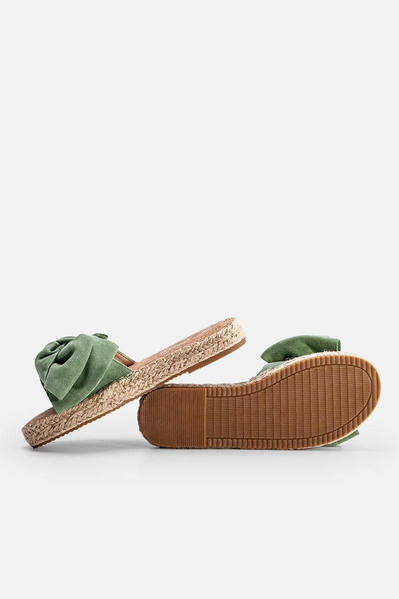 Zöld Masnis Művelúr Női Papucs