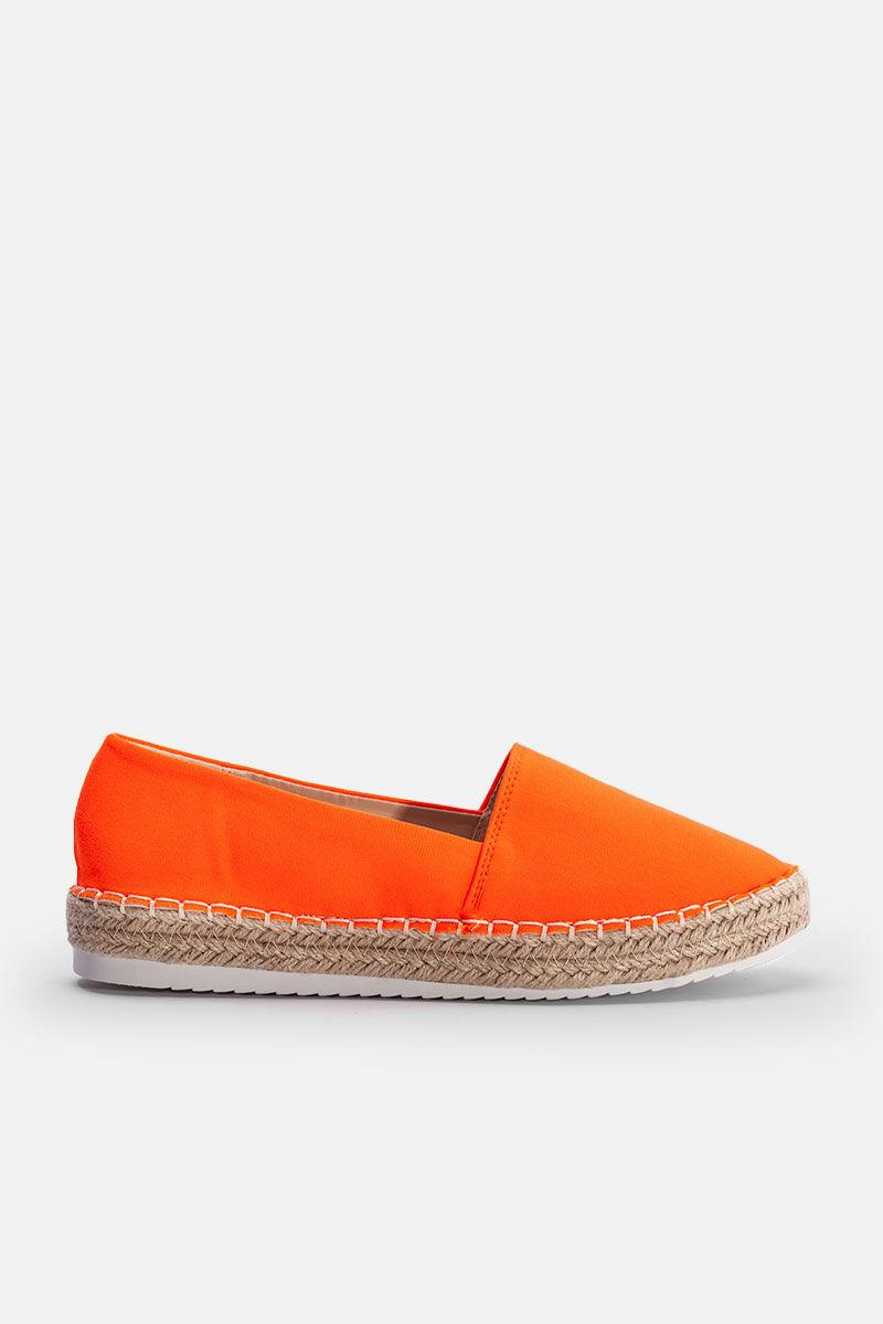 Narancssárga Háncstalpú Félcipő