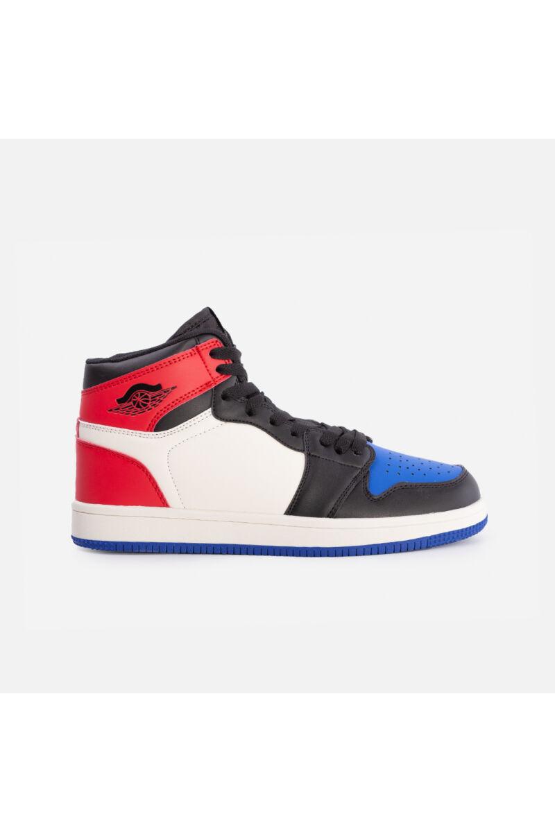 Magasszárú utcai cipő (kék-piros)