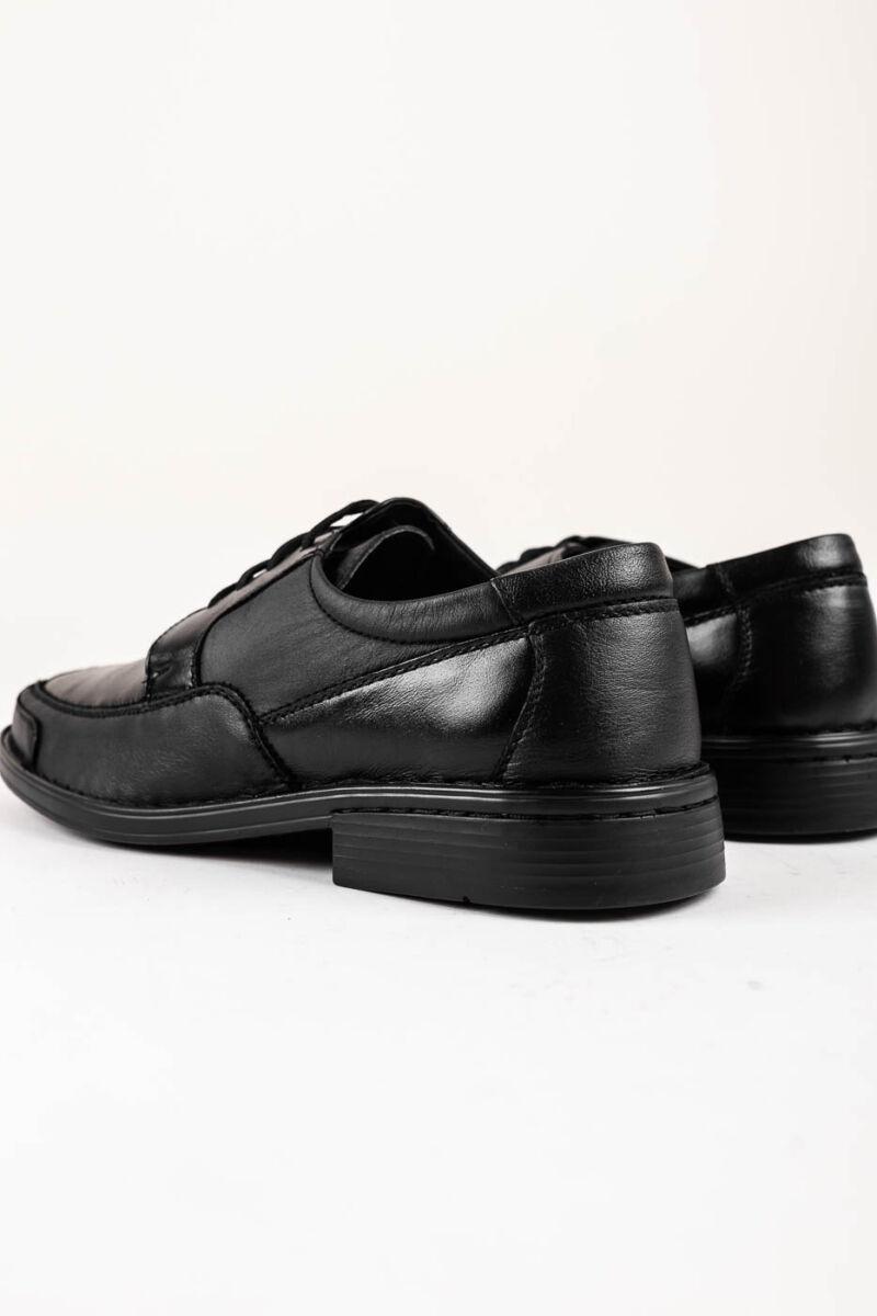 Fekete Férfi Fűzős Valódi Bőr Utcai-Alkalmi Cipő