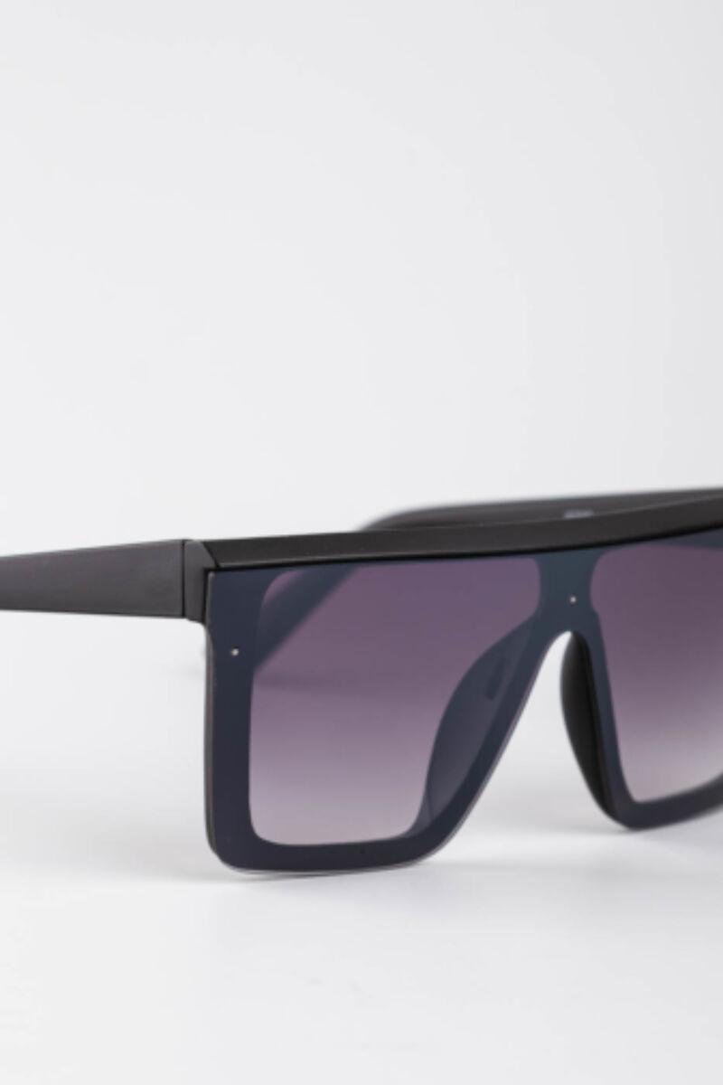A & ONE Fekete Nagy Méretű Szögletes Napszemüveg