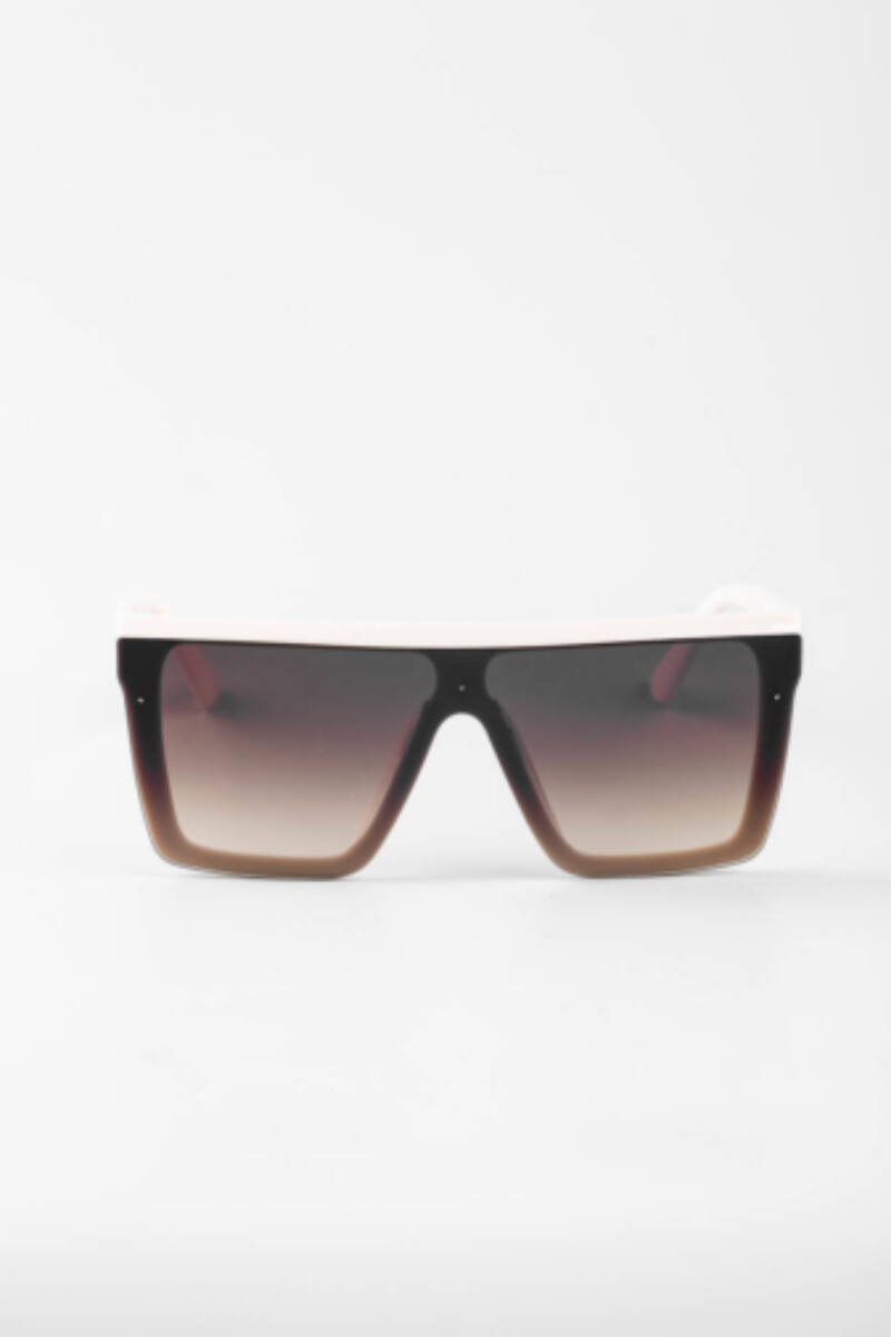 A & ONE Világosbarna Nagy Méretű Szögletes Napszemüveg