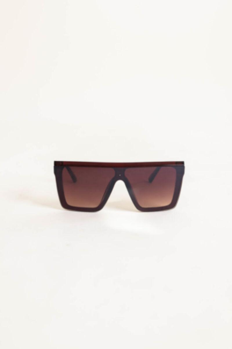 A & ONE Barna Nagy Méretű Szögletes Napszemüveg