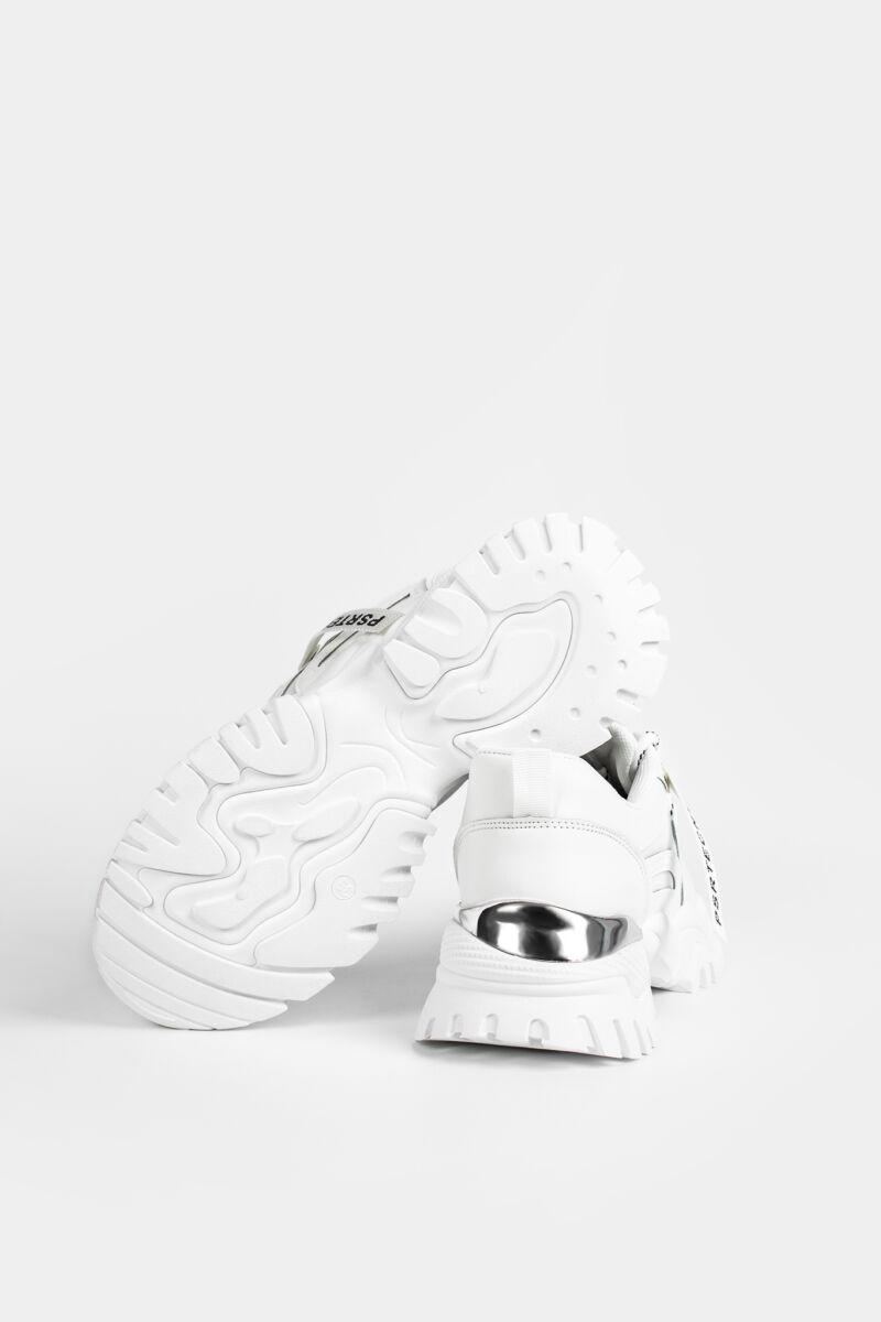 Fehér Magas Talpú Női Sneaker