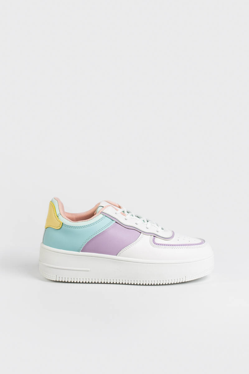 Színes Magas Talpú Női Sneaker