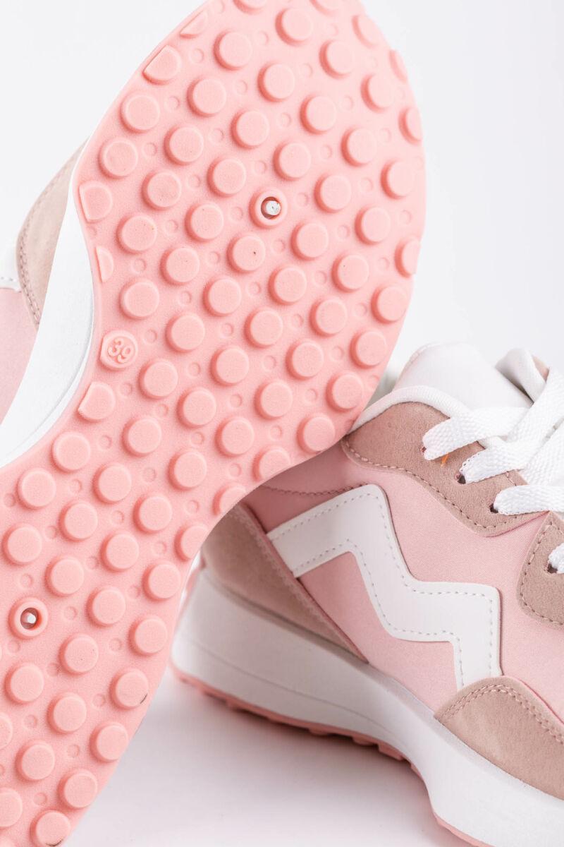 Rózsaszín Fehér Női Sportcipő