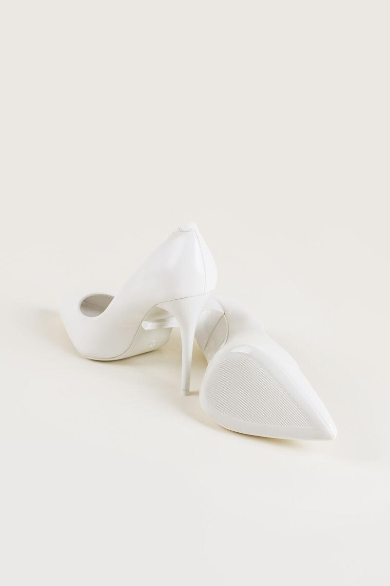 Női Fehér Műbőr Magassarkú Cipő