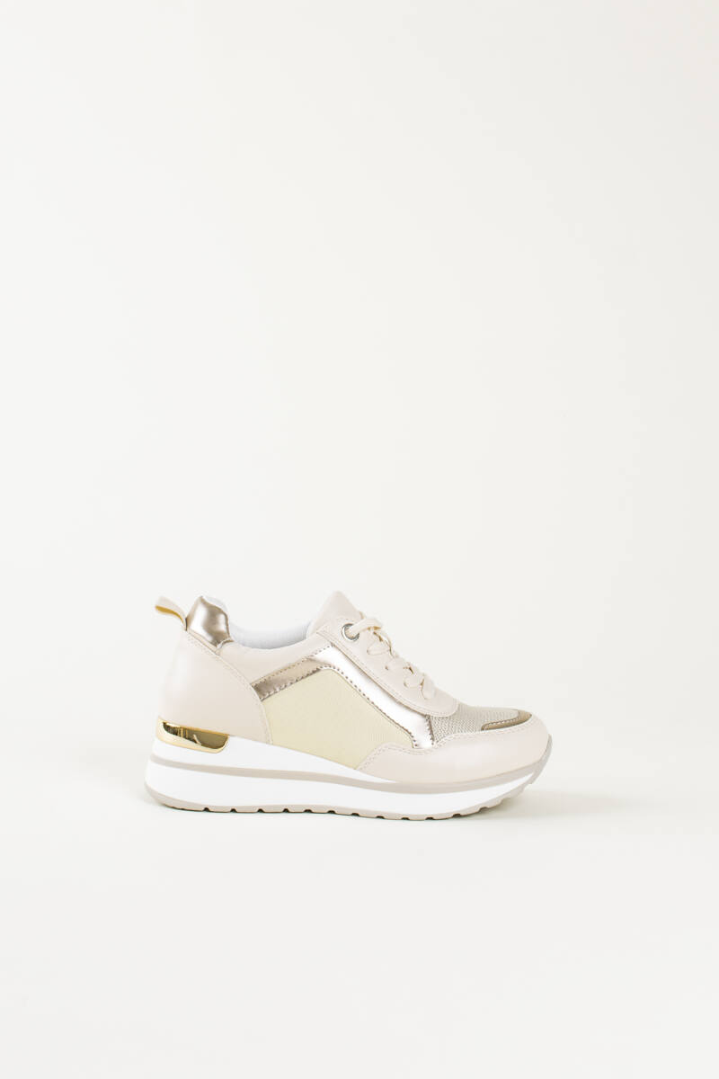 Bézs Női Rejtett Magassarkú Sneaker