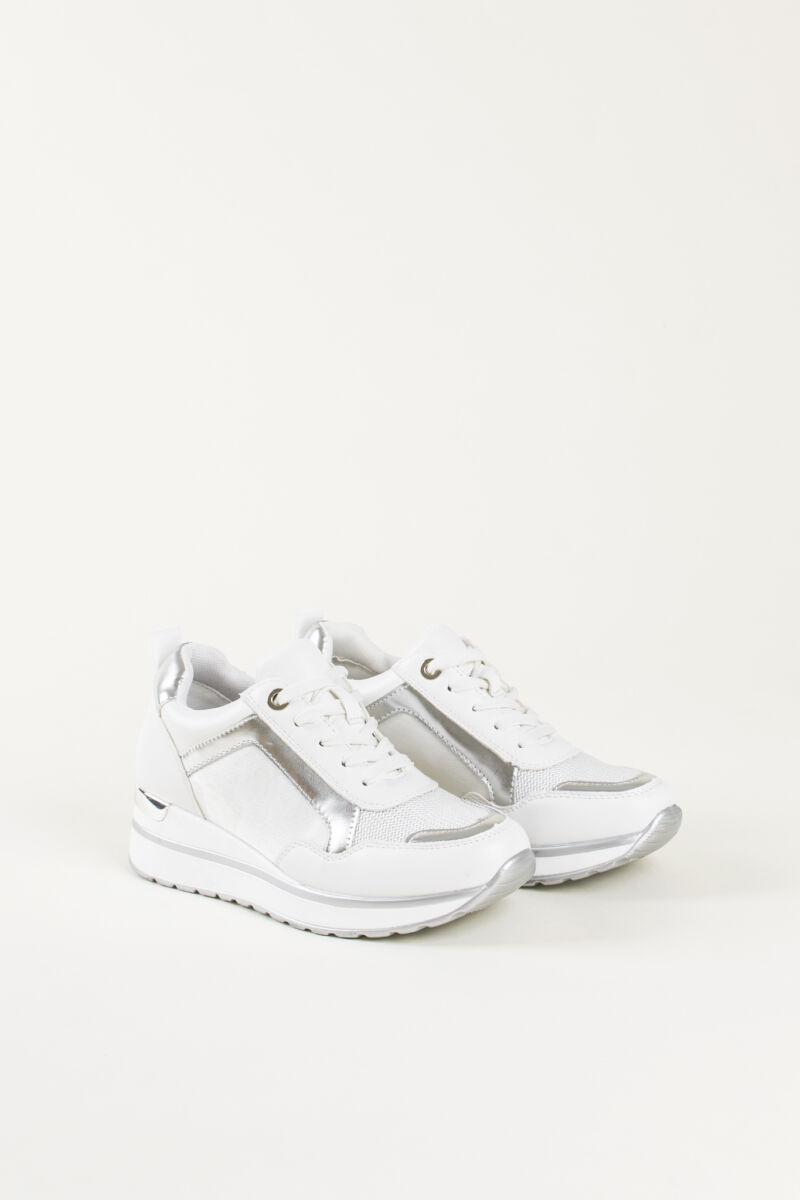 Fehér Női Rejtett Magassarkú Sneaker
