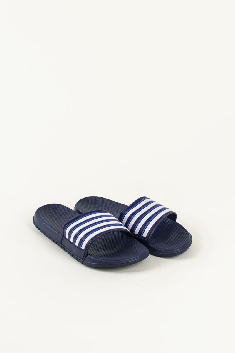 Kék-Fehér Csíkos Férfi Strandpapucs