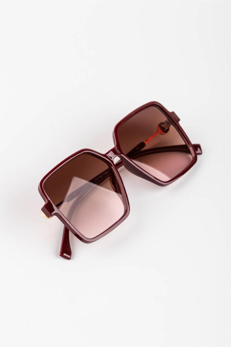 A & ONE Barna Színátmenetes Lencséjű Nagyméretű Szögletes Napszemüveg