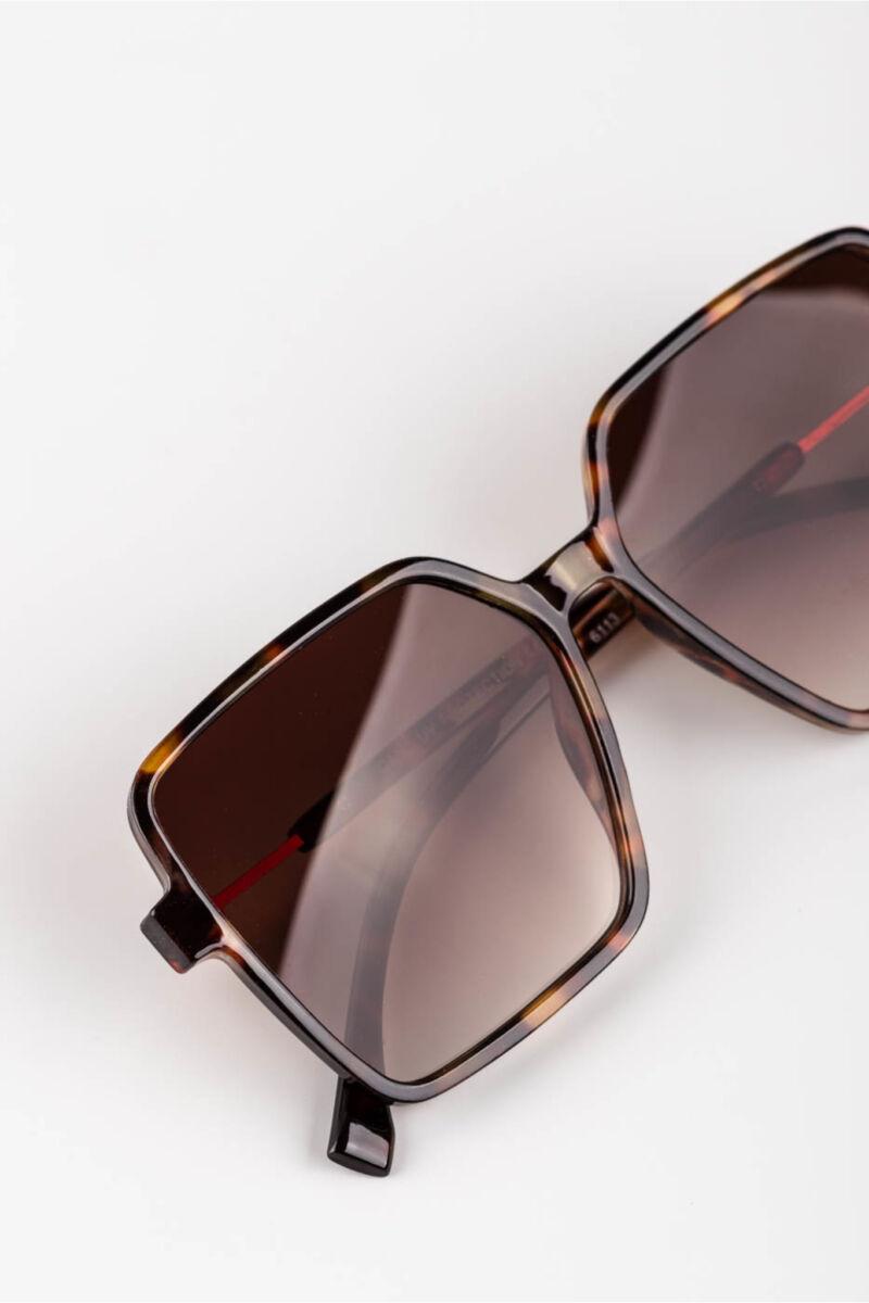 A & ONE Sötétbarna Színátmenetes Lencséjű Nagyméretű Szögletes Napszemüveg