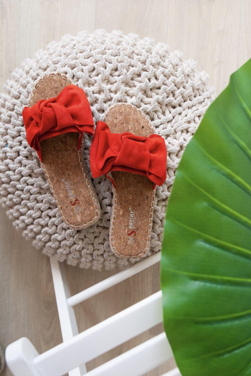 Piros Masnis Művelúr Női Papucs