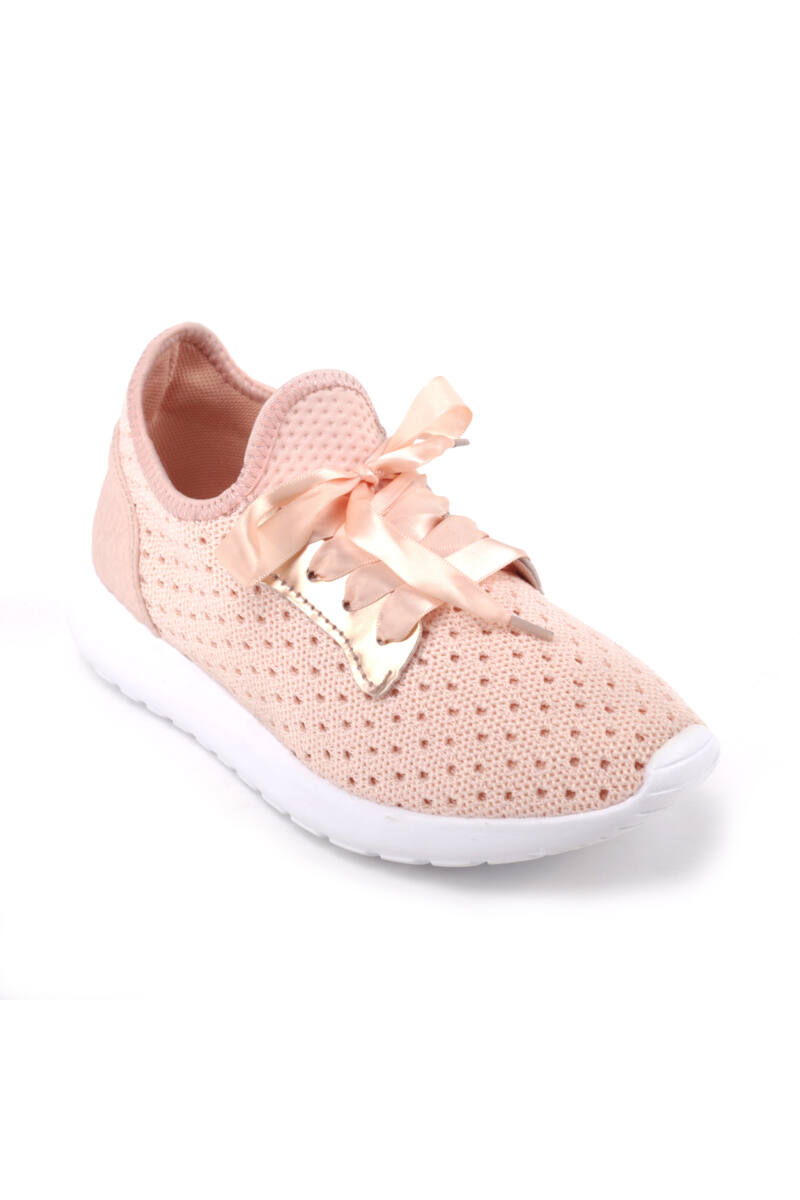 Női Rózsaszín Textil Sportcipő