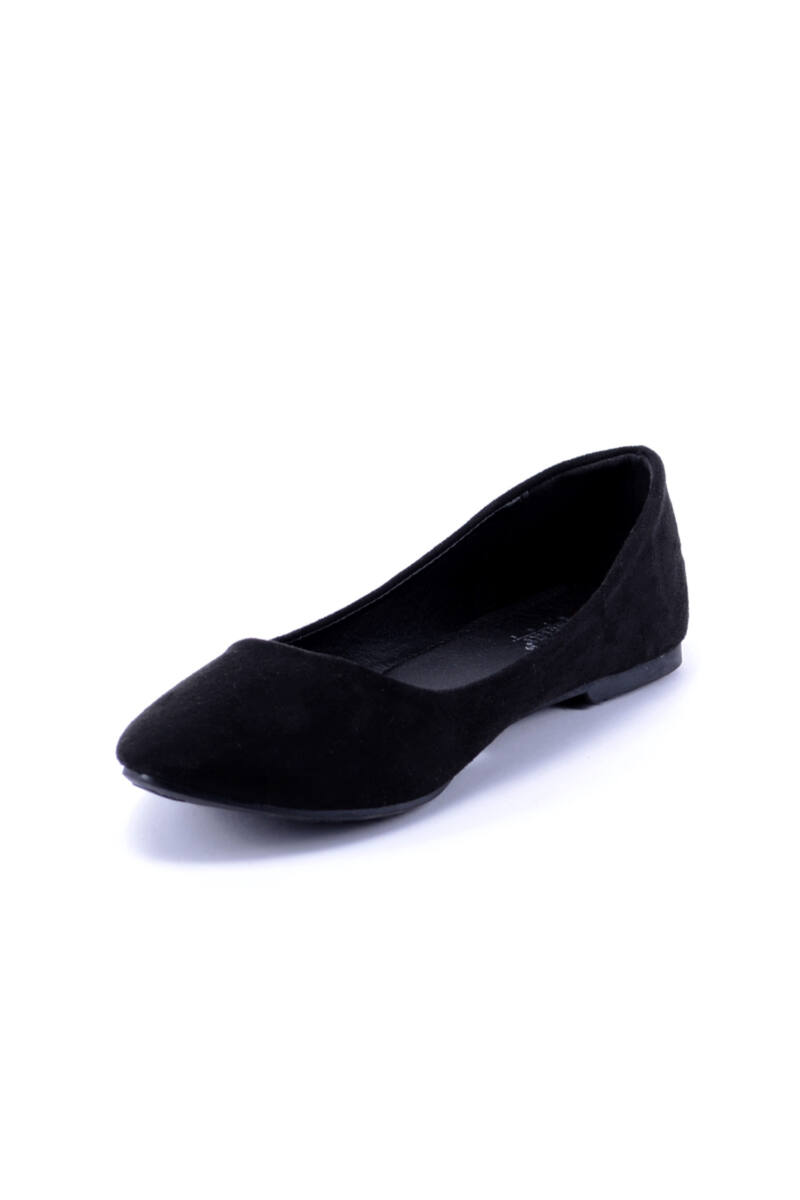Női Fekete Művelúr Balerinacipő