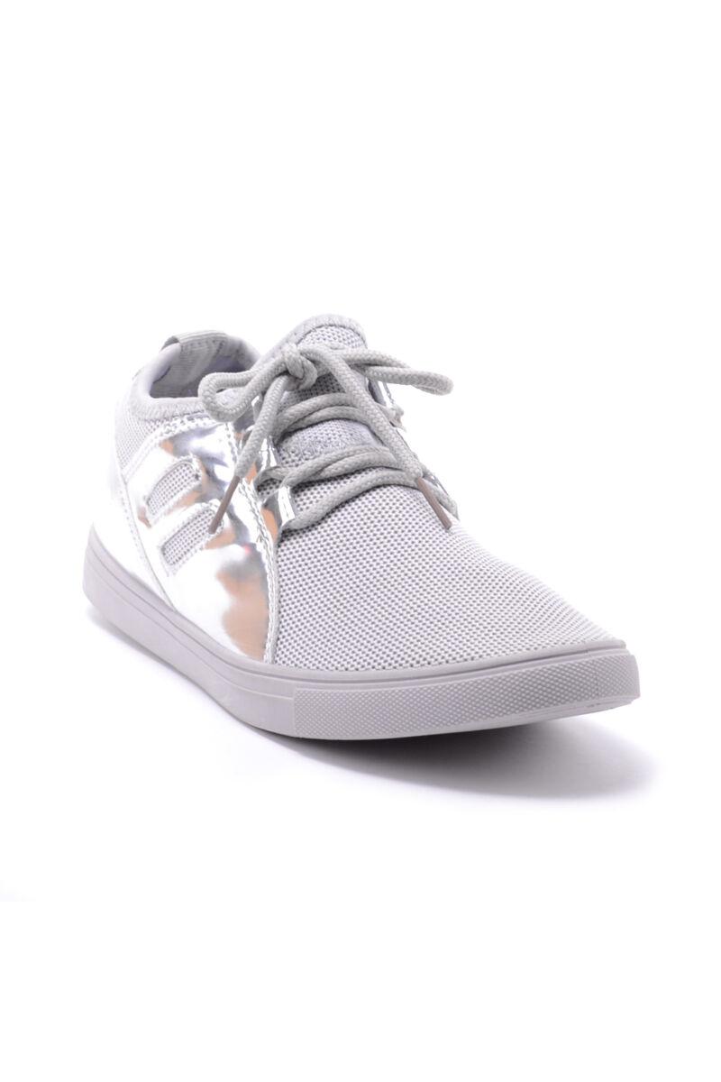 Női Ezüst Színű Lakkos Sportcipő