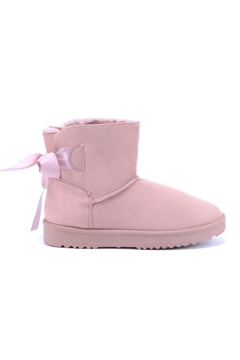 Női Rózsaszín  Művelúr Csizma