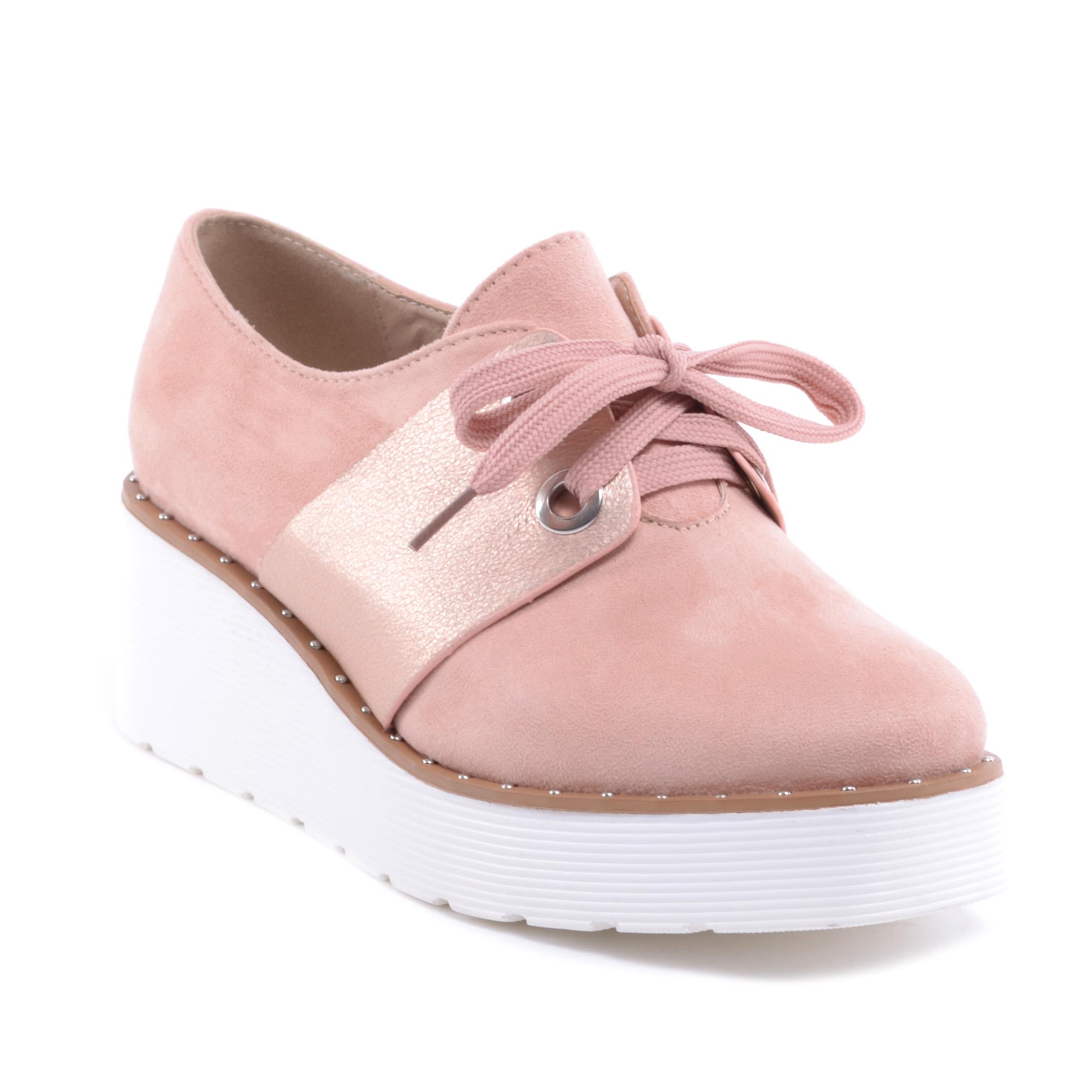 9c4ae5ac34b2 Női Művelúr Félcipő Cipő Rózsaszín - MAGAS TALPÚ - Női cipő webáruház-női  csizmák, női bakancsok, magassarkúk, női gumicsizma, magassarkú csizma, ...