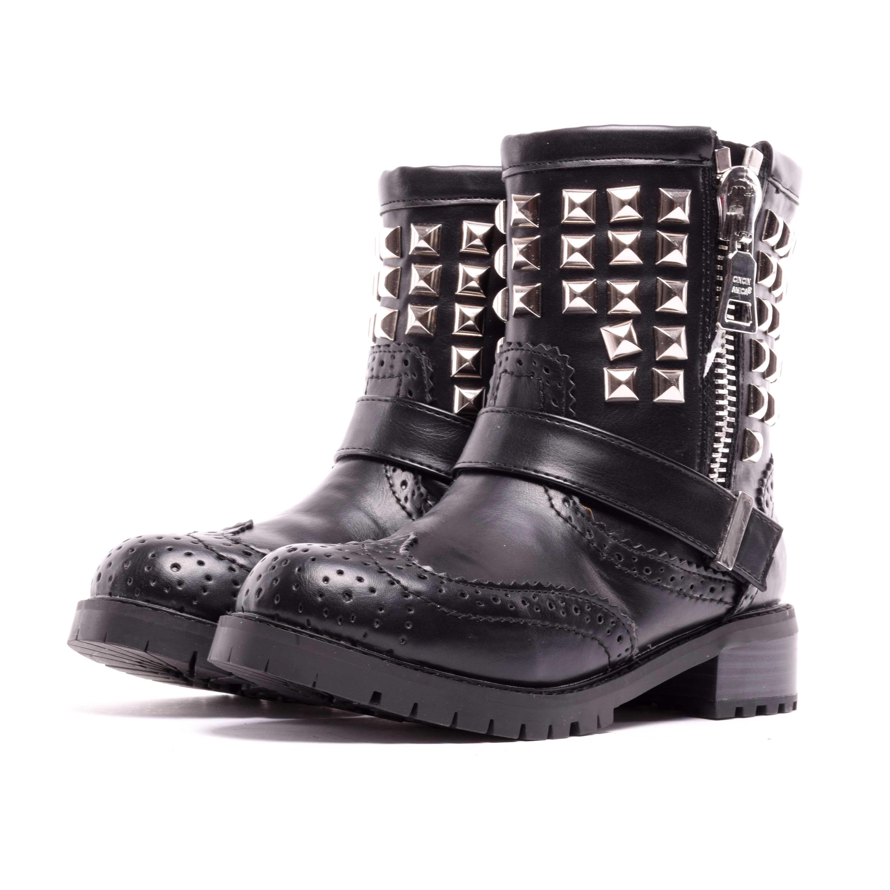 Női Fekete Műbőr Bokacsizma - BAKANCSOK - Női cipő webáruház-női csizmák e4b06858b3