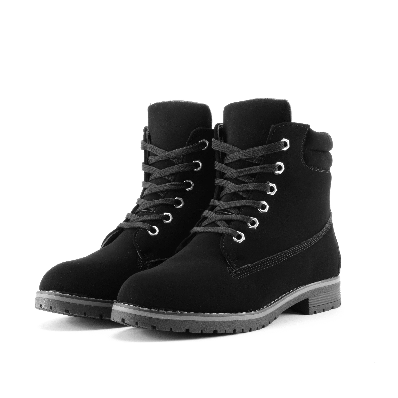 Fekete Női Bélelt Műbőr Bakancs - BAKANCSOK - Női cipő webáruház-női  csizmák 52e8fc517e